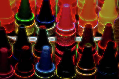 Photograph - Electric Crayons by Leah Palmer