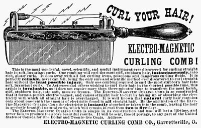 Photograph - Electric Curling Comb by Granger
