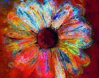 Julie Lueders Artwork Painting - Electric Daisy by Julie Lueders