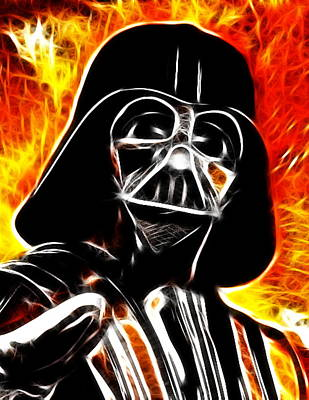 Electric Darth Vader Print by Paul Van Scott