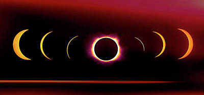 Photograph - Electric Eclipse by Art Cole