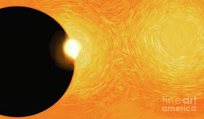 Digital Art - Plasmic Eclipse by Tim Richards