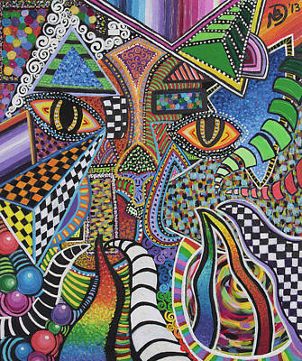 Painting - Electric Eyes by Nicole Dumond-Barry