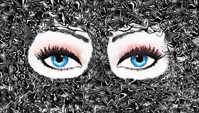 Mixed Media - Electric Eyes..... by Tanya Tanski