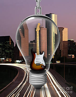 Mixed Media - Electric Fender Stratocaster Collection by Marvin Blaine
