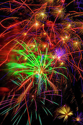 Photograph - Electric Fireworks by Garry Gay