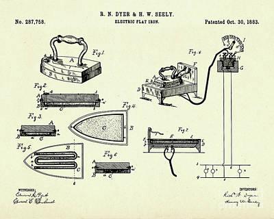 Electric Flat Iron-1883 Print by Pablo Romero
