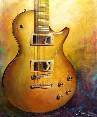 Art Print featuring the painting Electric Gold by Andrew King