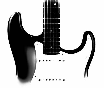 Photograph - Electric Guitar Bw by Athena Mckinzie