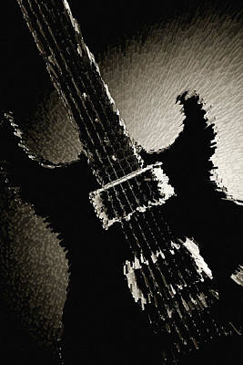 Photograph - Electric Guitar Fine Art Photograph Art Print Or Picture  4159.0 by M K  Miller