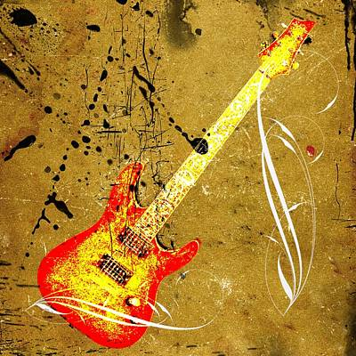 Photograph - Electric Guitar Grunge by Steve McKinzie