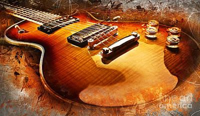 Sound Digital Art - Electric Guitar by Ian Mitchell