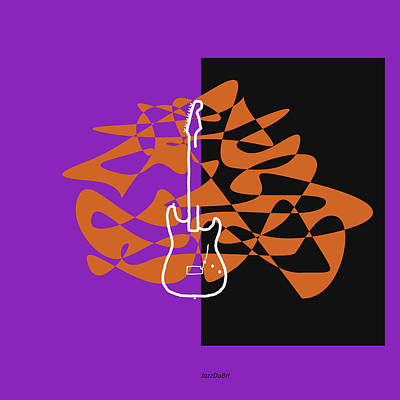 Digital Art - Electric Guitar In Purple by David Bridburg