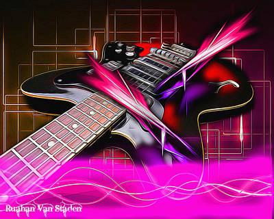 Digital Art - Electric Guitar by Riana Van Staden