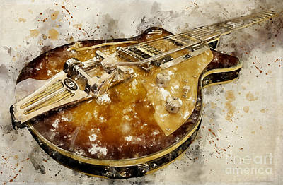 Digital Art - Electric Guitar by Teresa Zieba