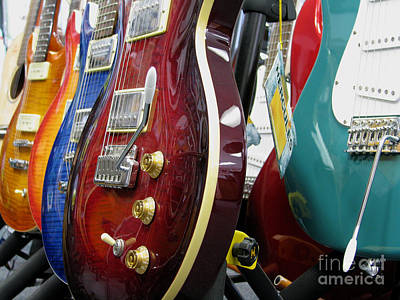 Music Royalty-Free and Rights-Managed Images - Electric Guitars For Sale by James B Toy