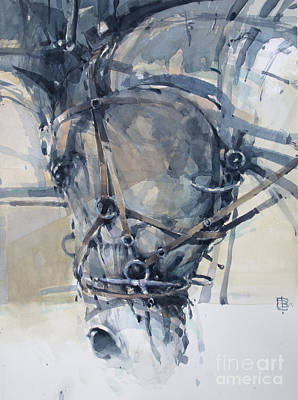 Wall Art - Painting - Electric Horse 2 by Tony Belobrajdic
