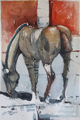 Wall Art - Painting - Electric Horse 3 by Tony Belobrajdic