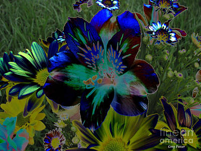 Art Print featuring the photograph Electric Lily by Greg Patzer