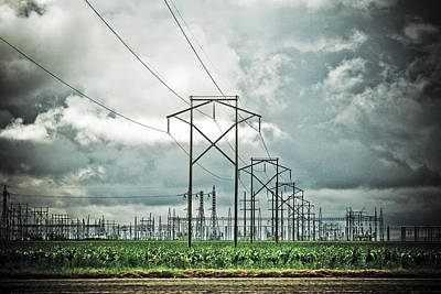 Photograph - Electric Lines And Weather by Marilyn Hunt