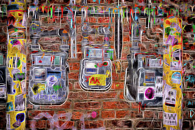 Art Print featuring the photograph Electric Meters by Spencer McDonald