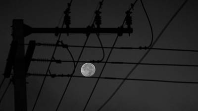 Photograph - Electric Moon Delray Beach Florida by Lawrence S Richardson Jr