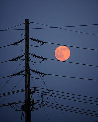 Electric Moon Art Print by Richard Reeve