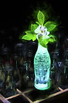 Photograph - Electric Neon Coke Still Life by JC Findley
