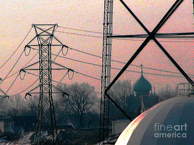 Electric Onion Domes Art Print by Donna Stewart