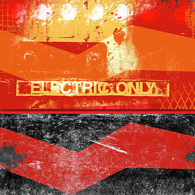 Mixed Media - Electric Only by Carol Leigh