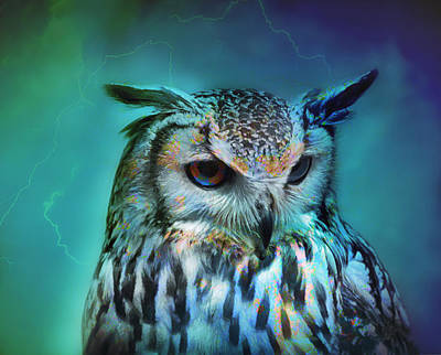 Movies Star Paintings - Electric Owl by Xilicom Photography