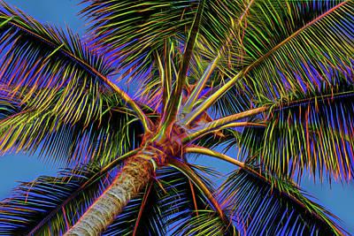 Electric Palm Art Print