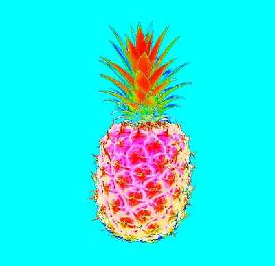 Pineapple Digital Art - Electric Pineapple by Marianna Mills