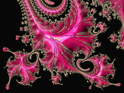 Digital Art - Electric Pink - Fractal Art by HH Photography of Florida