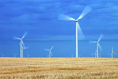 Wind Turbines Photograph - Electric Pinwheels by Todd Klassy