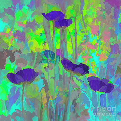 Painting - Electric Poppies by Ursula Freer