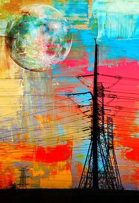 Electric Power Abstract... Art Print