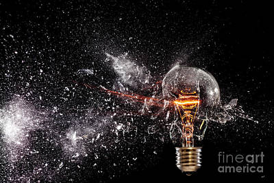 Photograph - Electric Power Explosion by Gualtiero Boffi