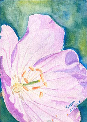 Wildflower Painting - Electric Purple With Wild Geranium Geranium Maculatum  by Susan Archer