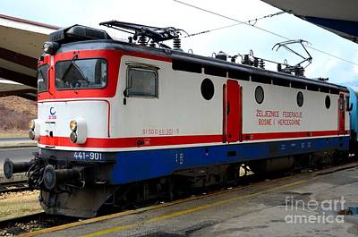 Photograph - Electric Rail Locomotive Of Bosnian Railways Sarajevo Station Bosnia Hercegovina by Imran Ahmed