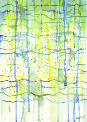 Painting - Electric Rain Watercolor by Kristen Fox