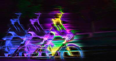 Electric Ride - Conceptual Art Art Print by Steve Ohlsen