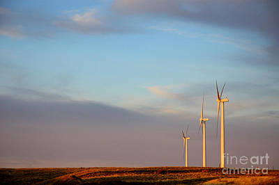 Windmill Photograph - Electric Sentinels  by Jerry McElroy