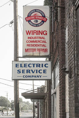 Photograph - Electric Service Company by Sharon Popek