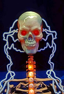 Electric Skull Art Print