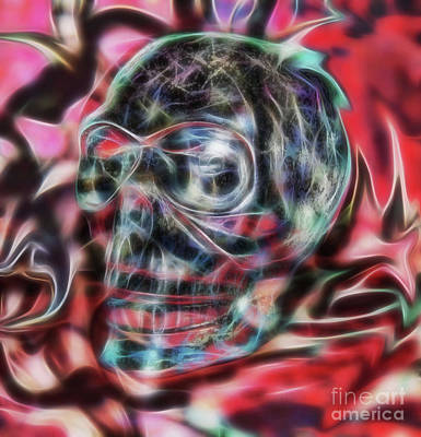 Photograph - Electric Skull by D Hackett