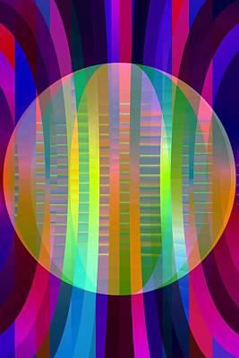 Digital Art - Electric Sphere - Limited Run by Lars B Amble