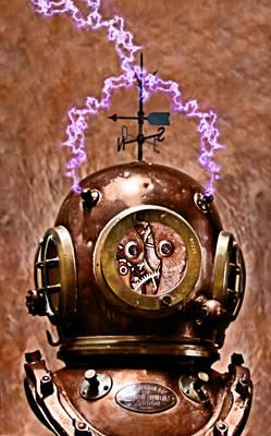 Photograph - Electric Steampunk Deep Diver by Pedro Cardona Llambias
