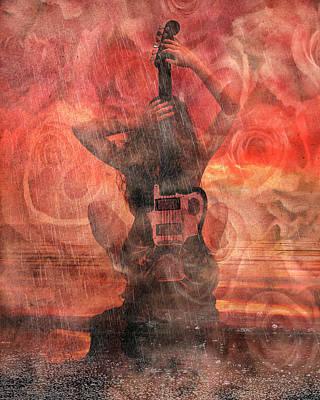 Storm Digital Art - Electric Sunset 2 by Betsy Knapp