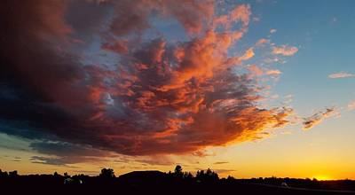 Photograph - Electric Sunset by Caryl J Bohn
